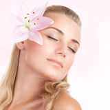 Gentle woman portrait Royalty Free Stock Images