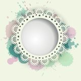 Gentle women and children background with napkin Royalty Free Stock Photo