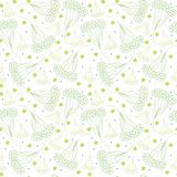Gentle yarrow plant floral pattern stock illustration