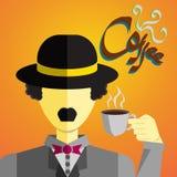 Gentlemän dricker en kopp kaffe Fotografering för Bildbyråer
