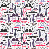 Gentleman accessories seamless pattern Stock Images