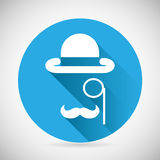 Gentleman Accessories Symbol Bowler Hat Monocle Royalty Free Stock Images