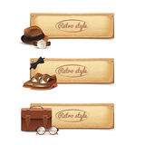 Gentleman Banner Set Stock Images
