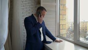 Gentleman in blue suit stock footage