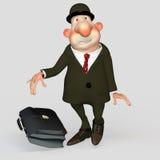 Gentleman bureaucrat, clerk, scared loser. Men gentleman bureaucrat, clerk, scared loser Royalty Free Stock Image