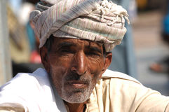 Gentleman at the Camel fair, Jaisalmer, India Royalty Free Stock Photos