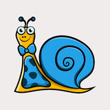 Gentleman cartoon snail with tie Royalty Free Stock Photography
