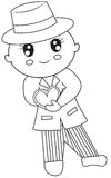 Gentleman coloring page. Useful as coloring book for kids Royalty Free Stock Images