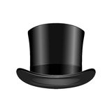 Gentleman fashion hat modern elegance black cap element top classic clothes vector illustration. Gentleman fashion hat modern elegance black cap element and Royalty Free Stock Photos