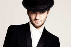 Gentleman with hat Royalty Free Stock Photos