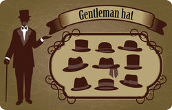 Gentleman hat Royalty Free Stock Images