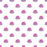 Gentleman hat pattern, cartoon style Royalty Free Stock Images