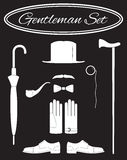 Gentleman icon set. Flat style, vector illustration Royalty Free Stock Photo