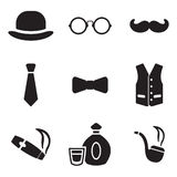 Gentleman Icons Royalty Free Stock Images