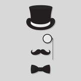 Gentleman. Illustration of a gentleman logo design black Royalty Free Stock Images