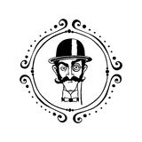A gentleman illustration Royalty Free Stock Photography