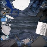 Gentleman kit - men`s fashion clothes and accessories . Stock Photography