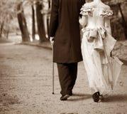 Gentleman & lady Stock Image