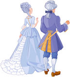 Gentleman and Lady. Illustration of gentleman and lady in beautiful evening dress Stock Image