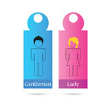 Gentleman and lady sign for toilet vector Royalty Free Stock Photos