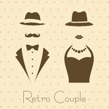 Gentleman and Lady in Vintage Style Stock Image
