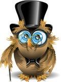 Gentleman owl Stock Photo
