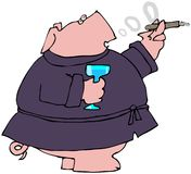 Gentleman Pig Royalty Free Stock Photos