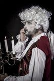Gentleman rococo era wig Stock Photo