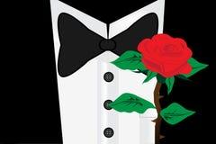 Gentleman with rose Stock Photos