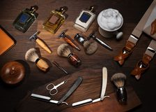 Gentleman's accessories on a luxury Wooden board Stock Photo
