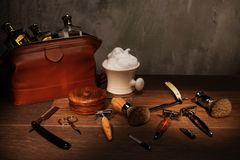 Gentleman's accessories on a luxury wooden  board. Gentleman's accessories on a luxury wooden board Royalty Free Stock Photo