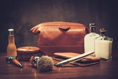 Free Gentleman S Accessories On A Luxury Wooden Board Royalty Free Stock Photography - 67836927