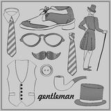 Gentleman's accessories set Royalty Free Stock Photo
