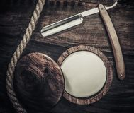 Gentleman's accessories on a wooden board Stock Photo