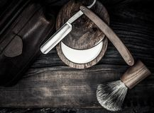 Gentleman's accessories on a wooden board Stock Photography