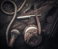 Gentleman's accessories on a wooden board Stock Photos