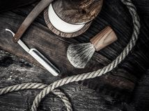 Gentleman's accessories on a wooden board Royalty Free Stock Image