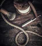 Gentleman's accessories on a wooden board Stock Images