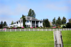 Gentlemans Country Farm Home Stock Image