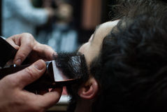 Gentleman's haircut Stock Photos