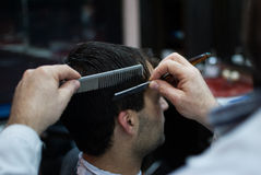 Gentleman's haircut Royalty Free Stock Photo