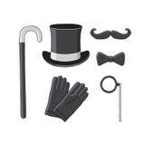 Gentleman's set. Vector. Stock Photo