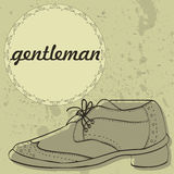 Gentleman's shoes vintage card Stock Photo