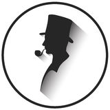 Gentleman's silhouette. On the image  is presented gentleman's silhouette Royalty Free Stock Photography