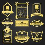 Gentleman Shop Vintage Label Royalty Free Stock Images
