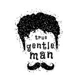Gentleman style. Poster with concept of gentleman style. Vector illustration Stock Image