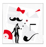 Gentleman things. Toys senior man royalty free illustration