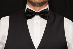 Gentleman in Waistcoat and Bowtie Royalty Free Stock Photos