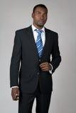 Gentleman wearing suit and tie. Elegant African American gentleman wearing suit and tie stock images