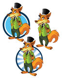 Gentleman Wolf Mascot Royalty Free Stock Photos